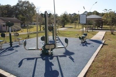 Image of work out equipment in Kreole Fitness Park