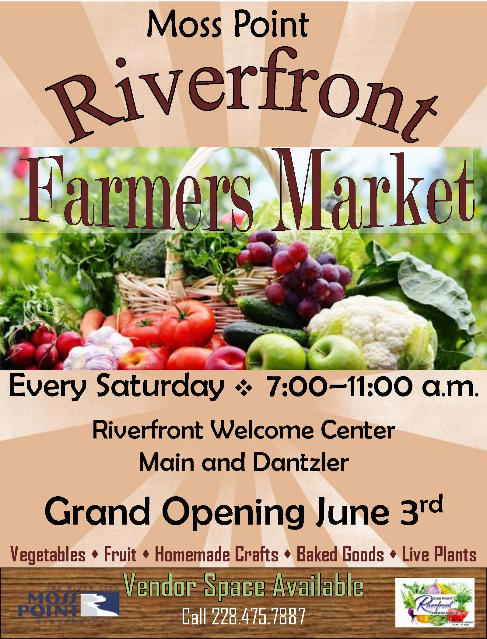 Riverfront Farmers Market Opening June 3d