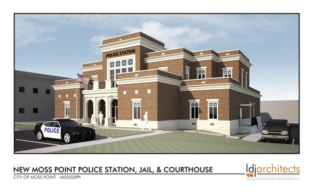 A mock up image of of the new Moss Point police station.